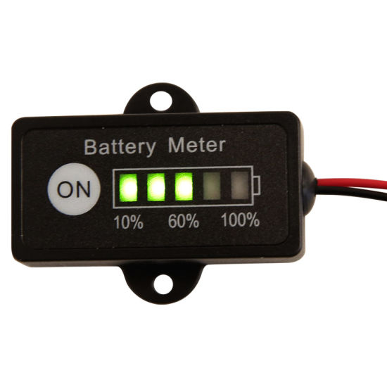 12V Battery Meter/Lead-Acid Battery Indicator for Golf-Carts Car Marine ATV  with 5 LED Indicator