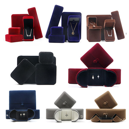 Luxury Red/Black Square Paper/Plastic/Wooden/Leather/Velvet Factory Clamshell Jewelry Watch Cosmetic Perfume Gift Packaging Set Storage Box Wholesale pictures & photos