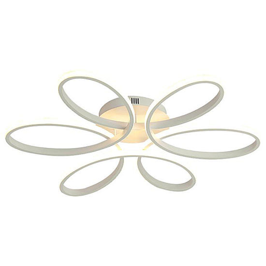 Modern Led Art Bedroom Lamp Ceiling Lamp Creative Petal Shaped Aluminum Room Lamp With 2 4g Dimming Function China Chandelier Luxury Chandeliers And Lamps Made In China Com