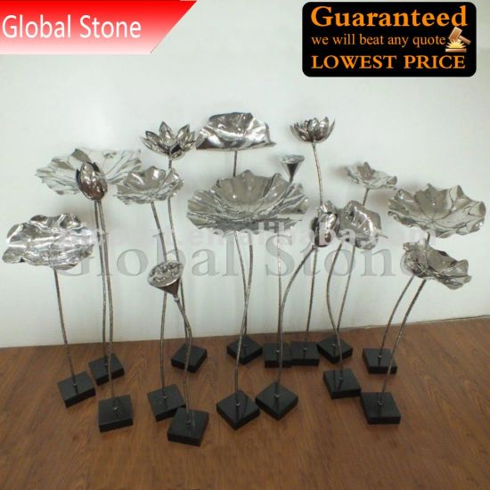 China Stainless Steel Lotus Flowers Sculpture Gsst 115 China