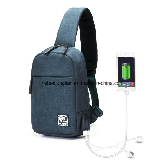 0a71462b06 Man Chest Bag Crossbody Bags Women Sling Shoulderbag USB-Charging Port