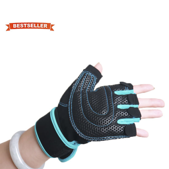Cycling Gloves Half Finger Two Finger Gloves Sunscreen Men Women Silk Fabric Anti-Slip Breathable Sport Bicycle Gloves