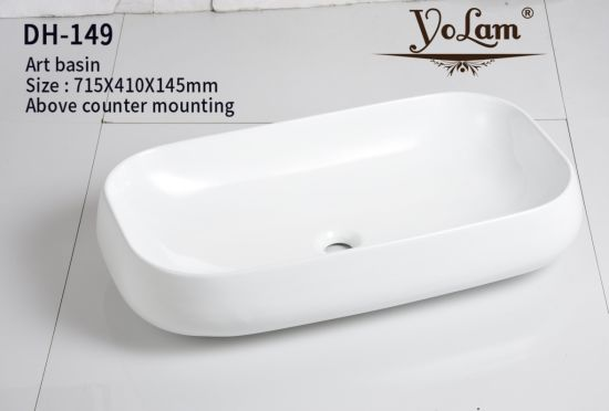 Modern Style Oval Art Garden Wash Basin With Stand Price, Bathroom Dining  Room Wash Basin Design (DH 149)