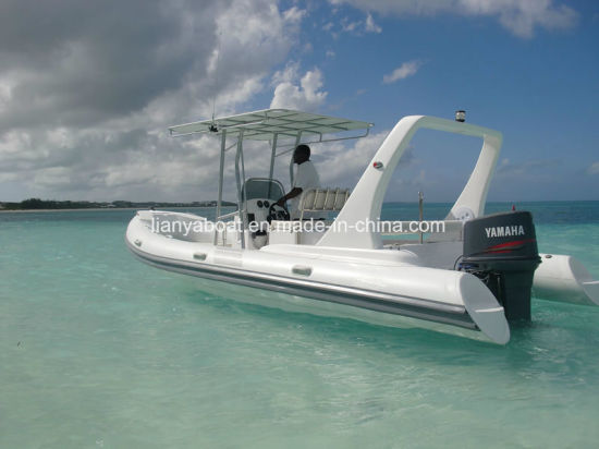 Liya 6.6m Fiberglass Fishing Boat Rigid Hull Inflatable Rib Boat