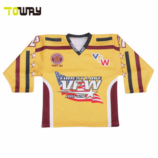 112c873537c China Latest Dry Fit Custom Sublimation Ice Hockey Jersey Design ...