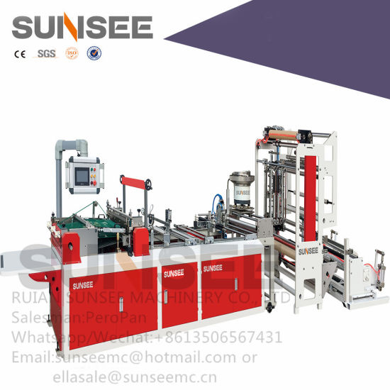 Full Automatic Zipper Attach with Slider Insertion Bag Making Machine