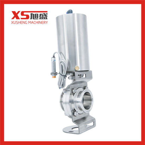 Sanitary Pneumatic Butterfly Valve with Limit Switch