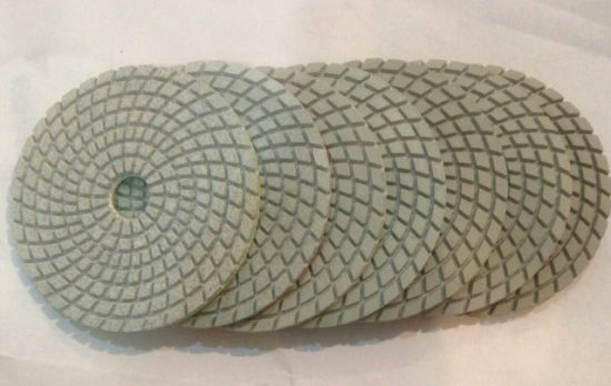 White Pane Diamond Wet Dry Polishing Pad pictures & photos