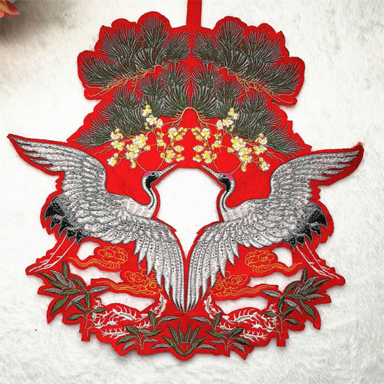 Wholesale Large Birds Embroidery Design Custom Embroidered Patches for  Clothing