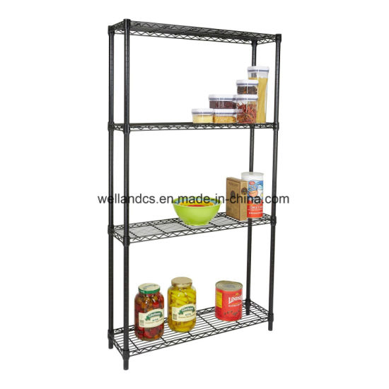 4 Tiers Metal Wire Shelving Unit