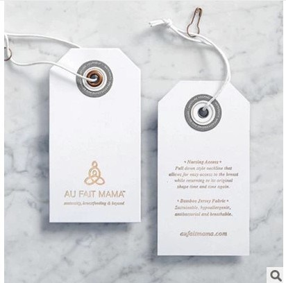 Shaped Clothing Tag Special White Card Clothing Tag Can Be Customized
