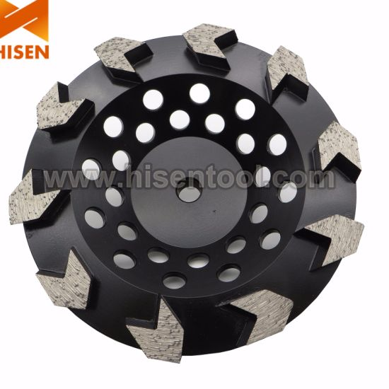 "7"" Concrete Grinding Diamond Cup Wheel with 10 Arrow Segments pictures & photos"