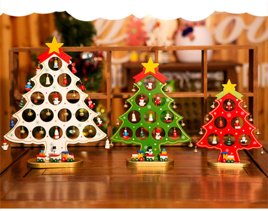 ... DIY Christmas Tree Style Home Decor Wooden Ornament Gift Decoration ...