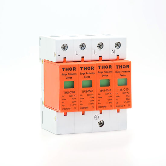 Power Surge Voltage Protector 40ka Lightning Arrester Electrical Power Protection pictures & photos