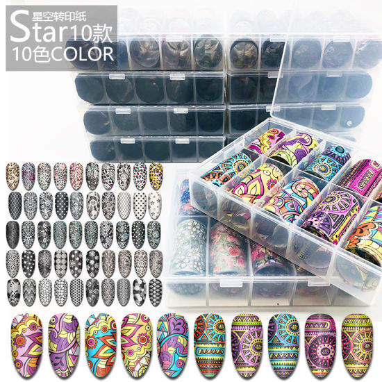Nail Art Transfer Foils Set Leopard Natinal Wind Stickers DIY pictures & photos