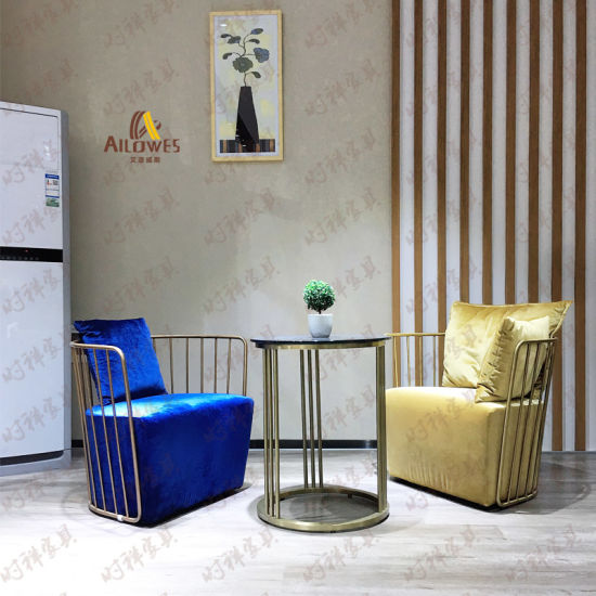 Hotel Restaurant Furniture Fabric Seat Stainless Steel Coffee Shop Leisure Chair