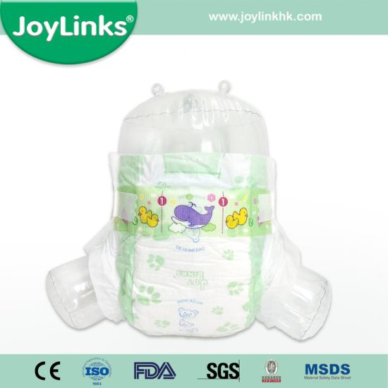 High Quality Clothlike Disposable Baby Diapers with Magic Tape
