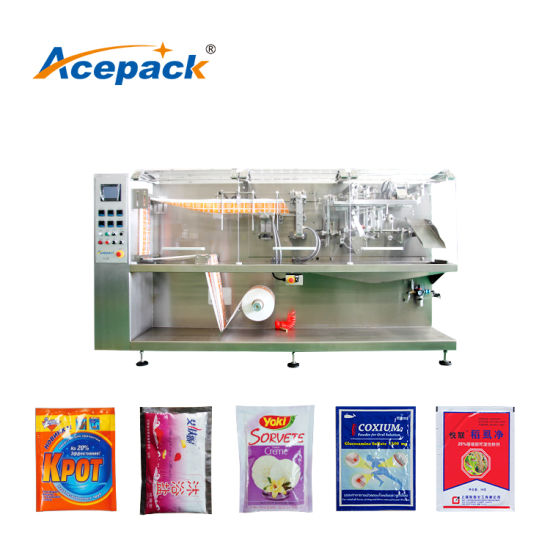 Horizontal Bag Given Powder Filling Flour Spice Sugar Special Shape Doypack Pouch Packing Machine