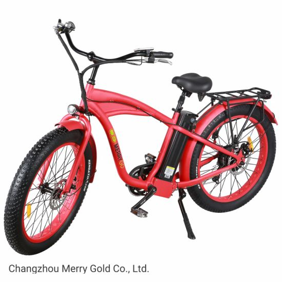 """New 26"""" Powerful Fat Tire Electric Mountain Beach Bicycle with 48V 500W"""