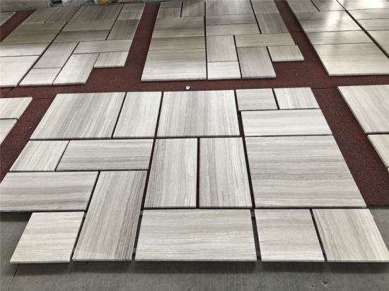 Polished Wooden White Tile
