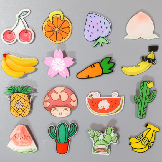 Promotional Plant Shape Acrylic Fridge Magnet with Good Quality pictures & photos