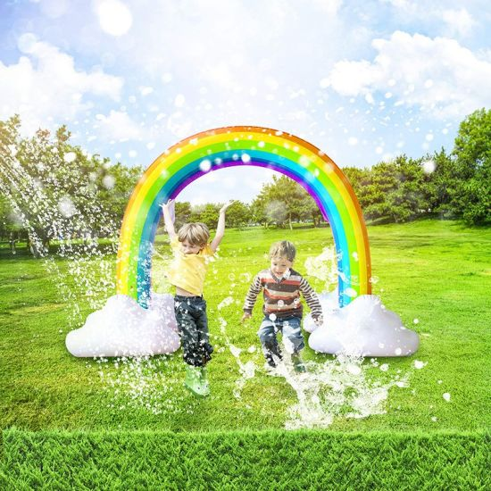 Giant Inflatable Rainbow Arch Sprinkler Water Toy pictures & photos