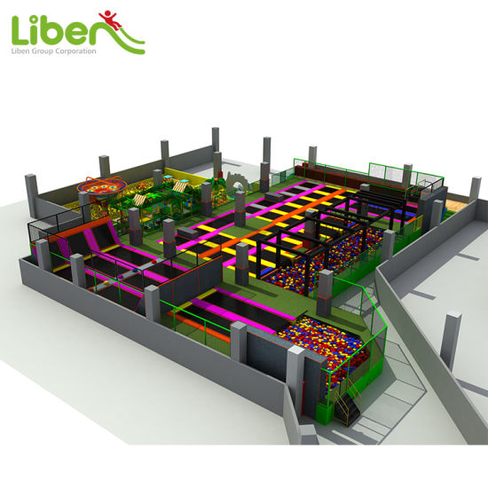 Kids Toy Indoor Amusement Park with Foam Pit Zone