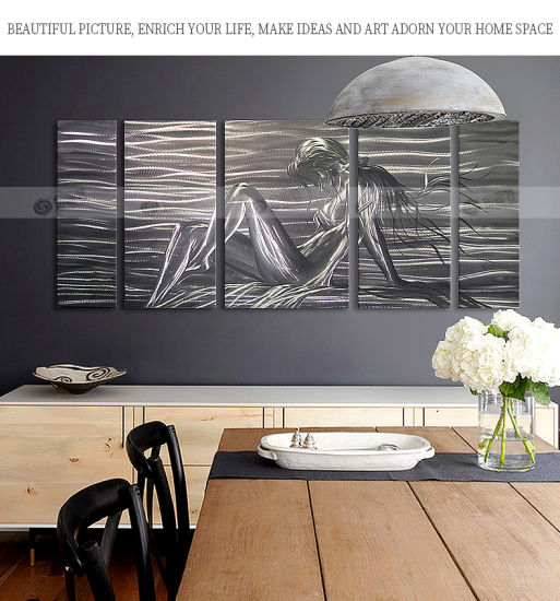 Nude Sexy Art Painting Sculpture On Metal Craft Wall Art Pictures Stretched For Bedroom Decorations Ready To Hang 24x64inch