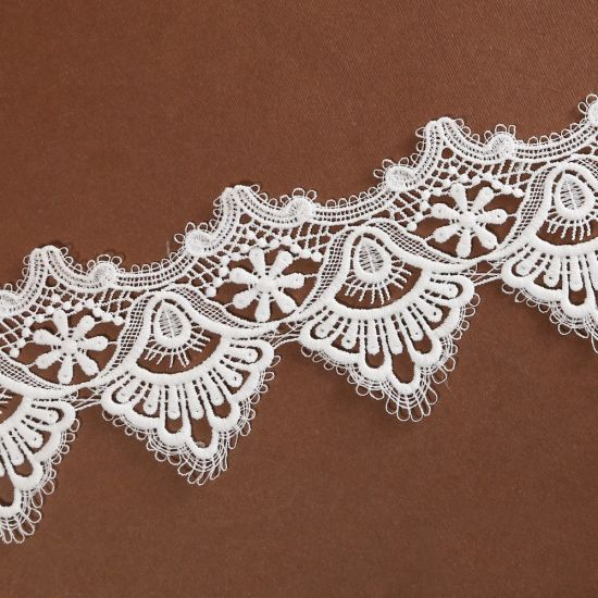 10cm Polyester Embroidery Venice Lace Trim