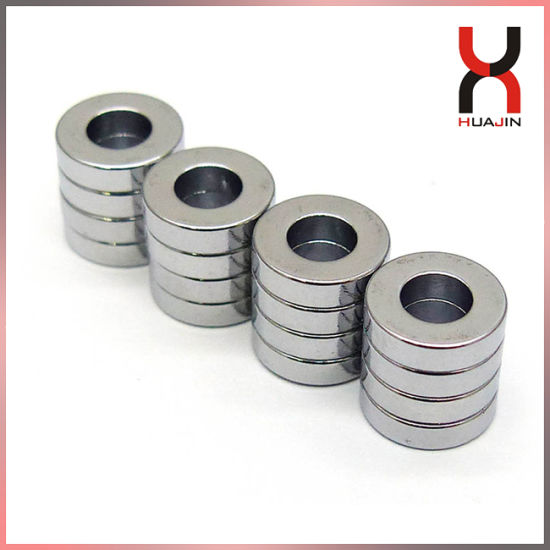 Super Strong N35 N42 N45 N50 Ring Rare Earth Magnets
