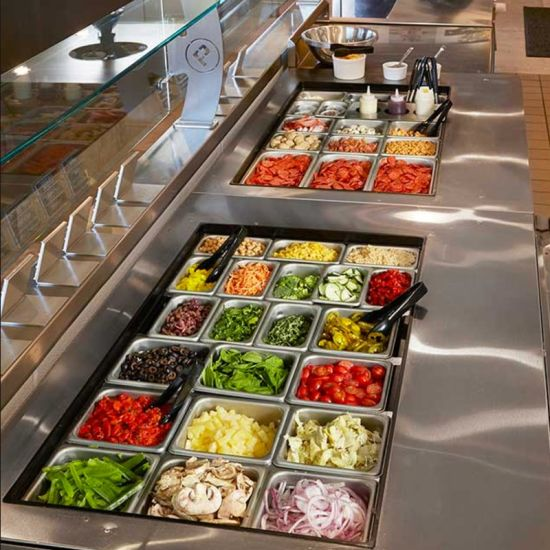 Salad Bar Preparation Workbench Unit