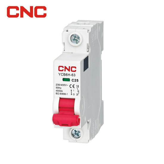 Ycb6h-63 4.5ka Low-Voltage Electrical Overload Protection Short Circuit Protection 1~63A CE Approved and Inmetro Certificate Miniature Circuit Breaker MCB