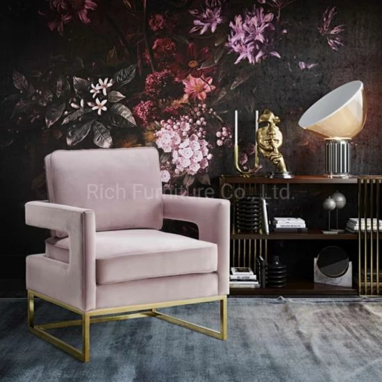 Best Price Factory New Design One Seater Pink Sofa Chair ...