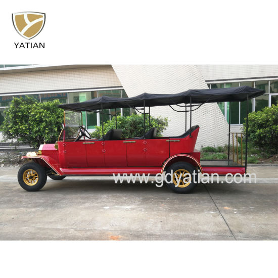 8 Passenger Electric Sightseeing Classic Old Vintage Car for Sale