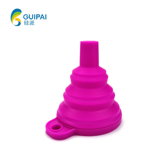 Promotional Great Kitchen Tool Mini Silicone Foldable Silicone Oil Funnel