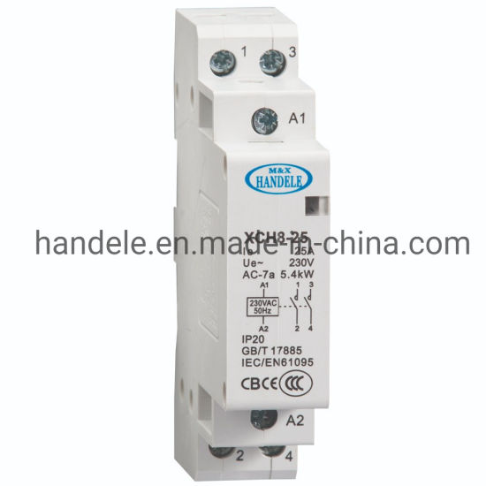 2P 63A 1NO 1NC 220V Din rail Household ac contactor With Manual Control Switch