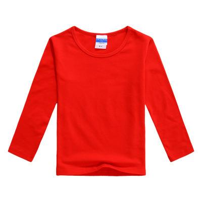 Long Sleeve Round Collar Children's Wear T Shirt Blank Shirt School Uniform Activity Clothes Customized