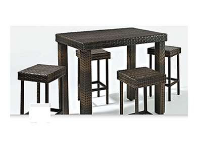 Leisure Bar Table and Chairs Sets Rattan Furniture