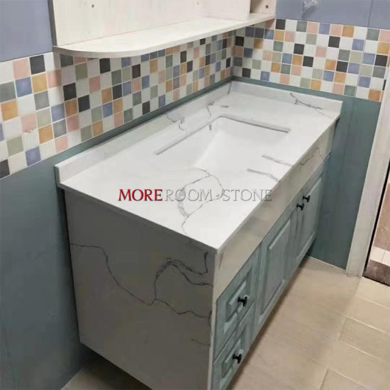 Design Artificial White Marble Quartz