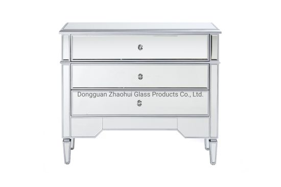 Mirrored Bedside Table Chest Of 3, 3 Drawer Mirrored Bedside Table