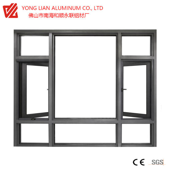 Thermal Break Casement and Sliding Aluminum Window and Door with Powder Coating Anodizing for Building Materials