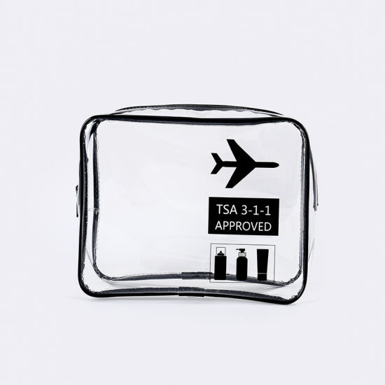 Hot Sale Waterproof Airline Women's Travel PVC Cosmetic Bags Transparent