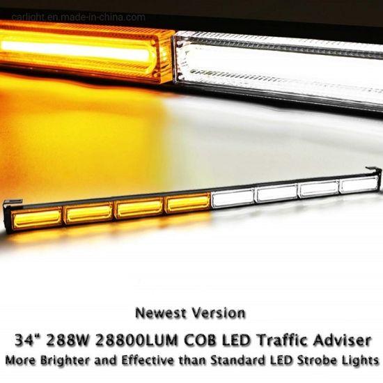 """36/"""" 13 Modes Traffic Advisor Emergency Warning Strobe Light Bar Kit Amber"""