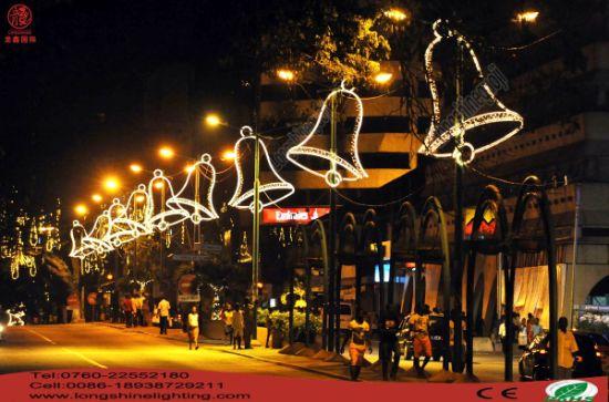 large ip65 led christmas bell anti uv rope light pole street motif decorative light