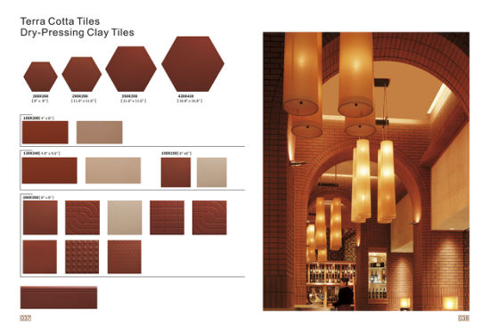 China 2016 Red Terra Cotta Tile Dry-Pressing Clay Tiles