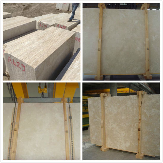 China Natural Hot Light Beige Travertine, Travertine Floor Tile pictures & photos