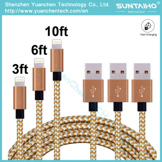 Wholesale Nylon Braided for iPhone Cable Fabric Braided pictures & photos