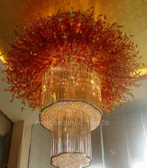 Phine Extravagant Irregular Glass Villa Ceiling Lamp pictures & photos