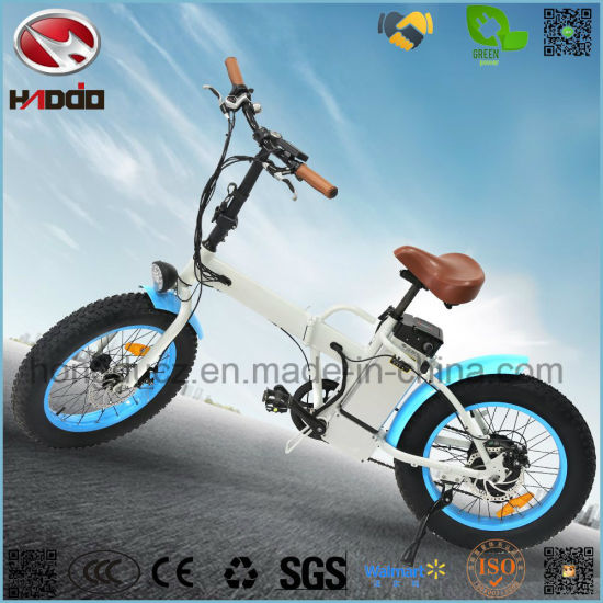 Foldable 350W Electric Bicycle Lithium Battery Fat Tire Folding Bike En15194 Apporved pictures & photos