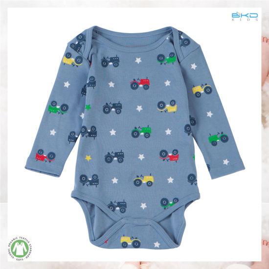 Car Printing Baby Clothing Unisex Baby Bodysuit